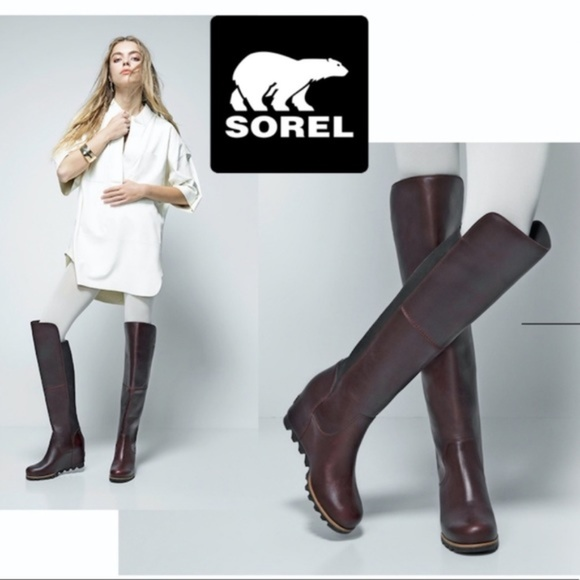 details for coupon codes so cheap Sorel Shoes | Fiona Otk Lux Wedge Boot Over The Knee | Poshmark